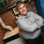 Worcester Bosch -Marton Hayes with his 39-year-old WEC Firefly boiler