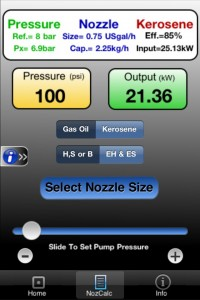EOGB app for oil nozzle output