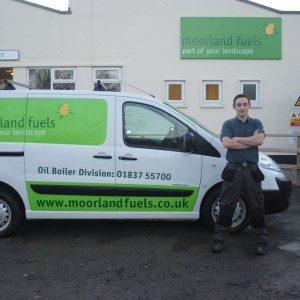 Moorland Fuels boiler service division member, Mark Quelch