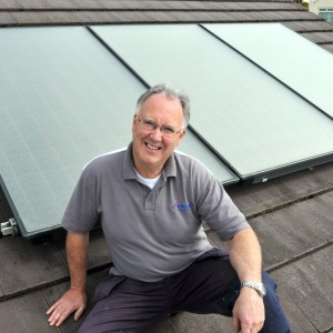 Oil boiler and solar thermal installation