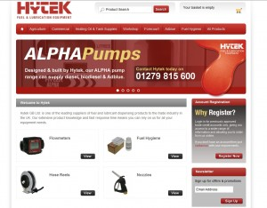 Hytek new website for easy oil ordering