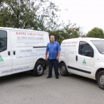 Oil Installer Tony Norris, owner of Arn Heating