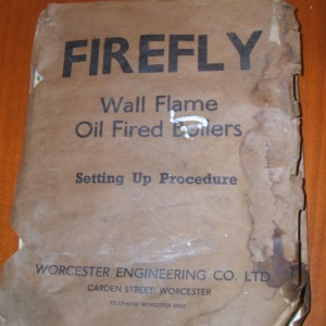 Worcester Bosch 1960s Firefly installation manual was also recovered